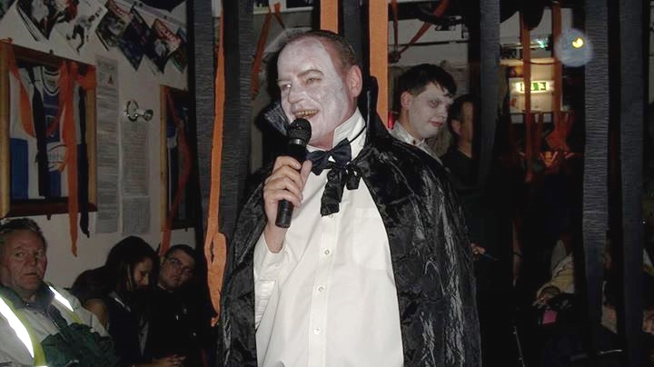 Paul pictured at one of the club's many theme nights.